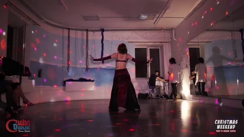 Екатерина Сырцева Восточный танец CubaDanza Christmas Weekend