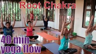 40 Minute Yoga Class - Chakra Series Part 1: Root Chakra (Muladhara)