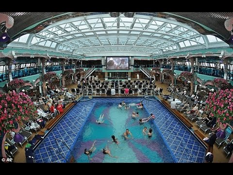 Vacation at Carnival Splendor Cruise From NY to Bahamas Pools, Bars, Rooms and Delicious Food.