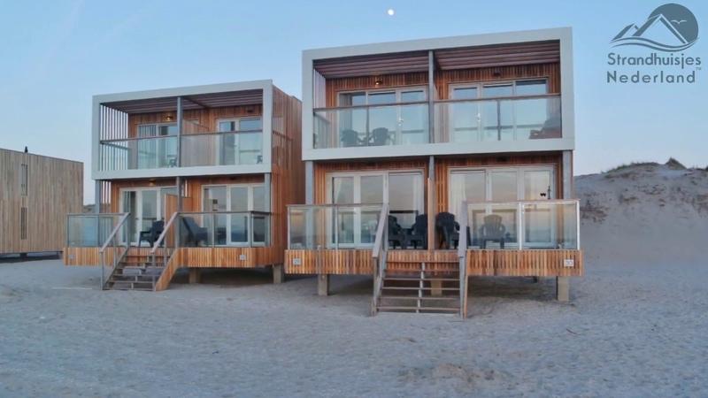 Strandhuisje Hoek van Holland Van boven binnen en buiten in 20 sec