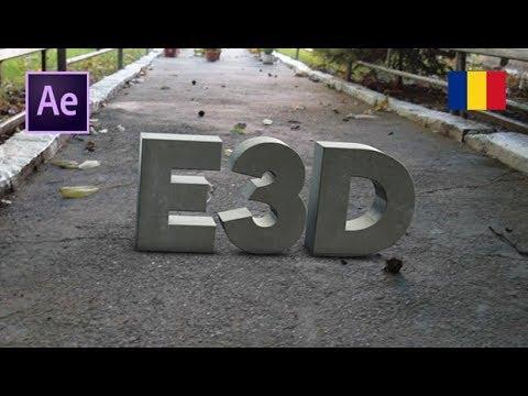 Tutorial AE Element 3D Text 3D real plasat intr o filmare