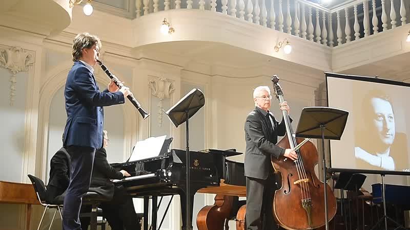 Довгань Трио для фортепиано кларнета и контрабаса 3 ч Исп В Довгань А Прищепа и Н Горбунов