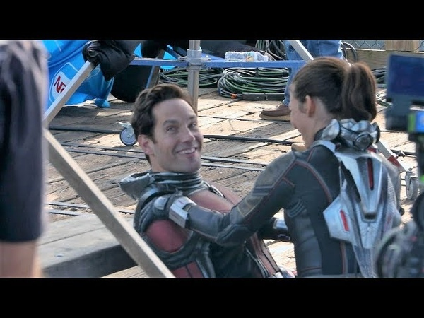 Antman and The Wasp Behind The Scenes Wasp seems to be not satisfied with her booty