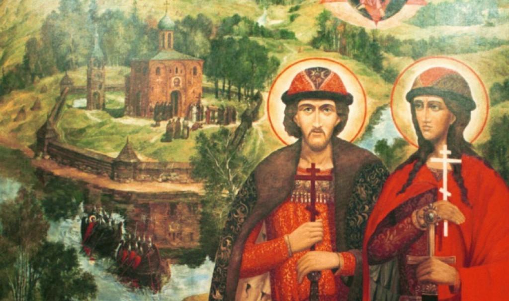 Святые Благоверные князья Борис и Глеб,   во святом Крещении Роман и Давид