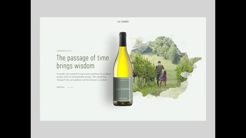 Wine ecommerce site interactions by Andrew Litnytskyi inspiration@frendes
