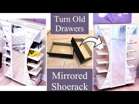 CLEVER OLD DRAWER REUSE| SMALL SPACE STORAGE SOLUTION ON A BUDGET!