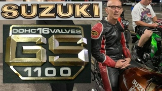 INSPIRATIONAL 75 YEAR OLD SUZUKI GS DRAG BIKE RACER CHALLENGES YOUNG NITROUS HAYABUSA STREET BIKES