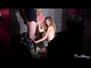 Candice demellza, lana hardin - swinger club suck - cfnm, cum for chloe, cumshot, sperm, facial, licking lips, kiss, public use,