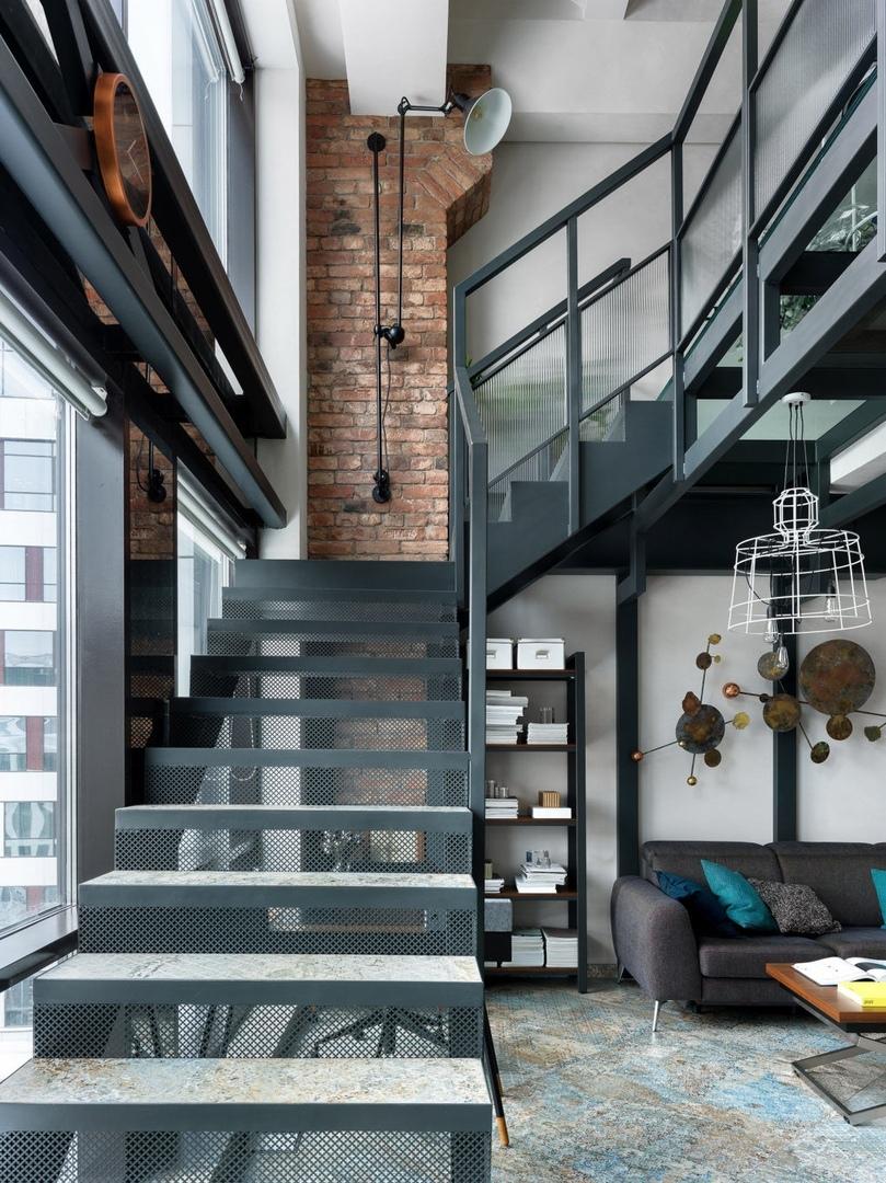 Двухэтажный лофт в Москве, 72 м²