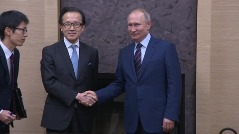 Президент Путин провел официальную встречу с главой Совбеза Японии
