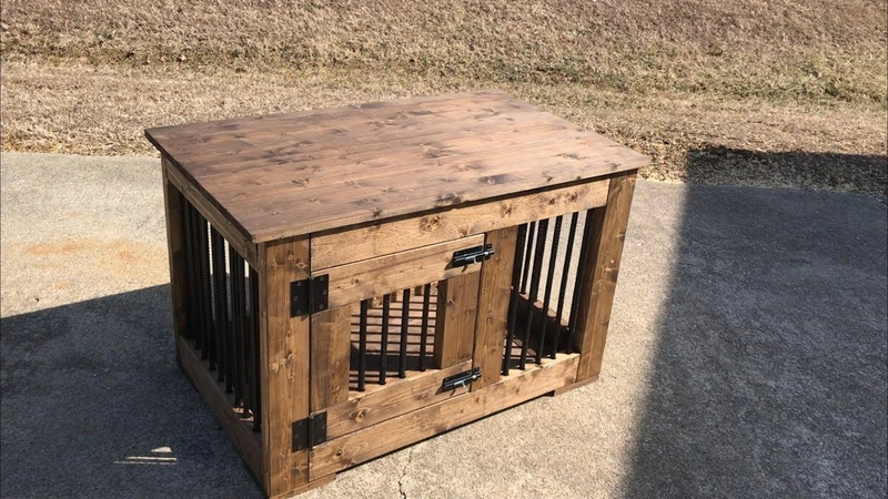How to build a Dog Crate Made with 2x4's and Rebar
