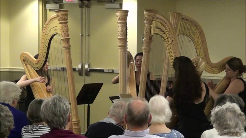 W A Mozart String Quartet No 22 K 589 arr Caroline Lizotte The Glenn Gould School Harp Quartet