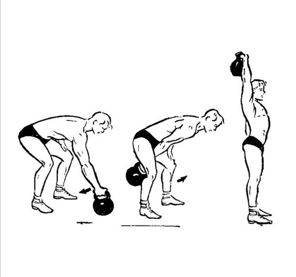Упражнения для мышц с гирей в картинках