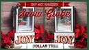 DIY Christmas Motorized Blowing Snow Globe - Red Truck Falling Snow - Dollar Tree Christmas Decor