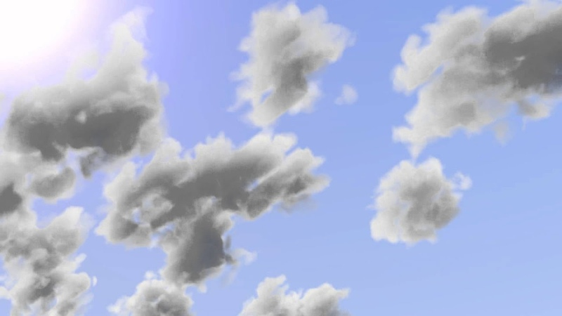 Blender animated volumetric clouds