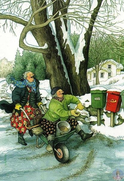 Финский художник - иллюстратор и садовод Inge Loo Inge Loo родилась в Хельсинки в 1951 году. Окончила среднюю школу в 1972 году. Получила образование ландшафтного дизайнера в 1974 году ,
