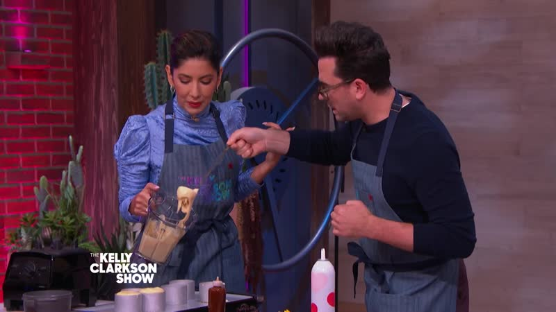 Making Fluffy Japanese Pancakes With Dan Levy Stephanie Beatriz And Brandi Milloy Simon