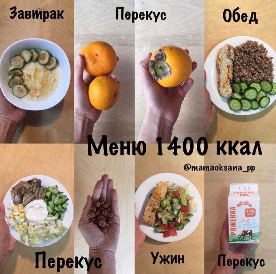 Варианты меню на 1300-1600 ккал
