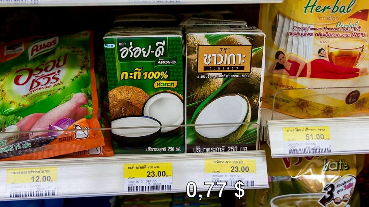 Цены на продукты и еду в Таиланде.  Ff6xt6ZTB8E