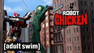 Power Rangers Battle | Robot Chicken Season 8 | Adult Swim
