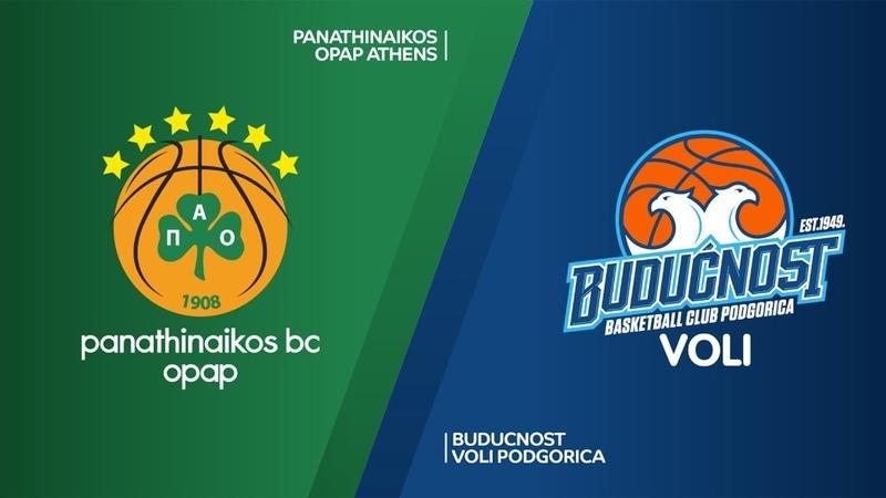 Panathinaikos OPAP Athens - Buducnost VOLI Podgorica Highlights   EuroLeague RS Round 30