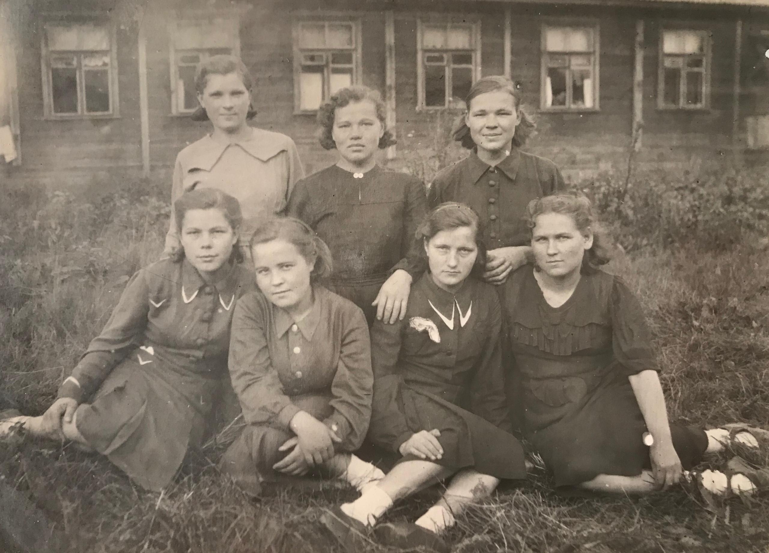 Жители юнгородка п.Леваневского,1940-е годы.