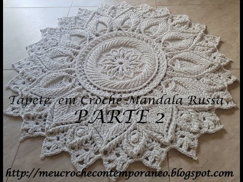 Tapete em Crochê Mandala Russa parte 2