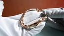 Именной золотой мужской браслет плетения Бисмарк с инициалами и гравировкой Спаси и сохрани