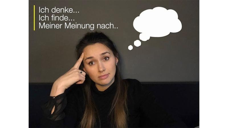 Redemittel Meinung äußern, B1B2, Deutsch lernen (Diskussion)