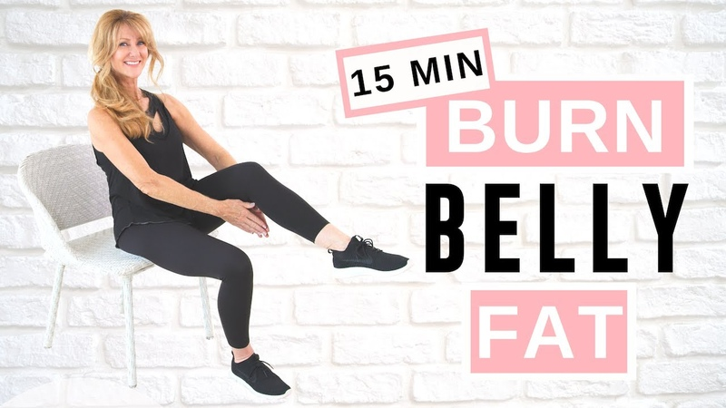 Lose Belly Fat Sitting Down AB WORKOUT For Women Over 50