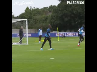 Wilfried zaha embarrassing players in training like its nothing