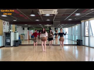 Cardio Jive line dance(Easy Intermediate) Ike  Virginia Po