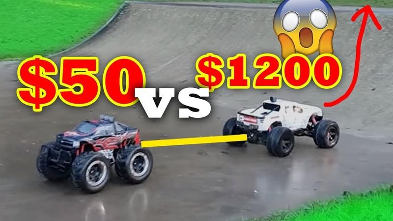 $1000 RC Car Crushing $100 RC Car - Traxxas X-Maxx VS Toy Shop Special! Tire comes off
