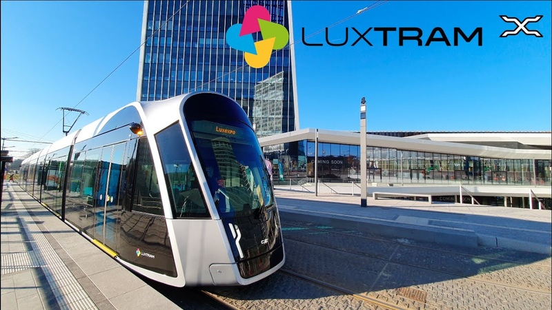 Luxtram Luxembourg Tramway Tram 2020 CAF Urbos Free public transport
