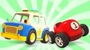 A pista para a grande corrida Veículos de serviço Desenhos animados para crianças