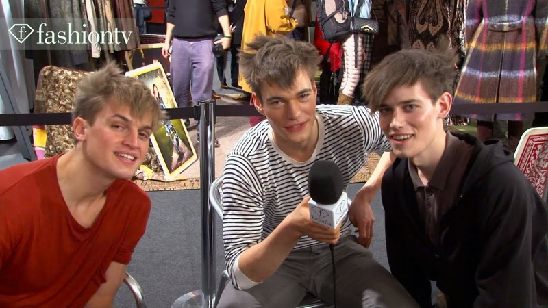 Male Models at Etro FallWinter 2013-14 BACKSTAGE | Milan Mens Fashion Week | FashionTV