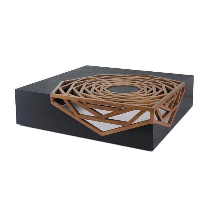 Кофейный столик с встроенным резным узором Hanako от Vito Selma