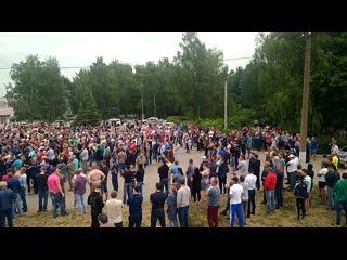 Чемодановка. Сход граждан после конфликта