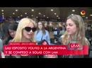Lali Espósito explicó por qué no iría con su novio al living de Susana con su novio