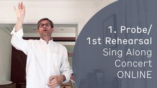 """Sing Along Concert ONLINE mit Simon Halsey • Probe Nr. 1: """"Selig sind, die da Leid tragen"""""""