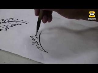 Китайская живопись гохуа - рисуем хризантему (Китай)