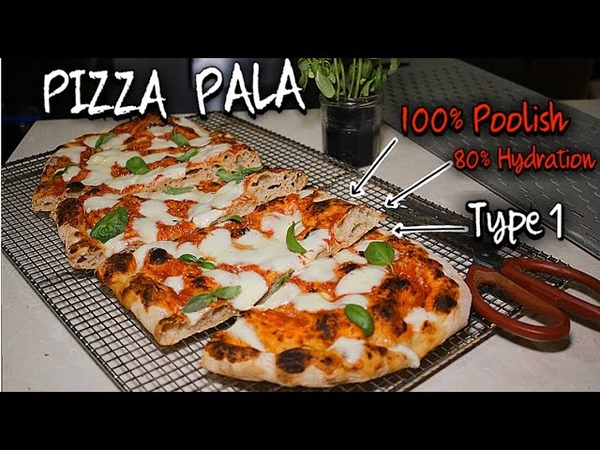 PIZZA PALA 100% POOLISH Dough - 80% Hydration - Type 1 Flour (Special Pizza Recipe)