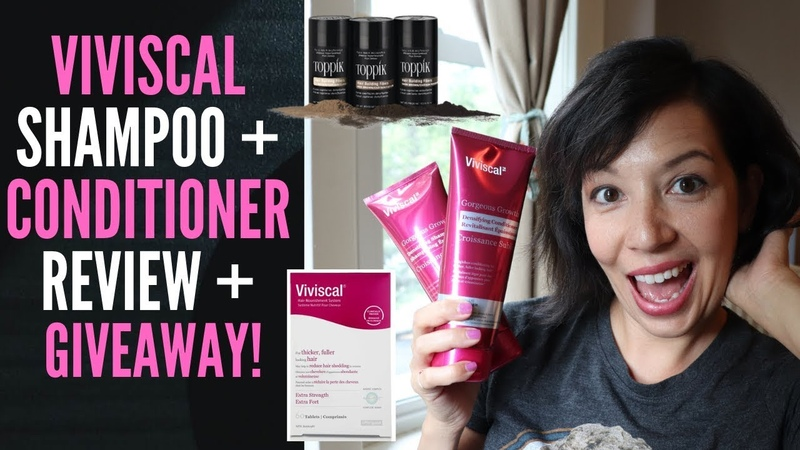 DO THICKENING SHAMPOO CONDITIONER WORK VIVISCAL REVIEW (A Toppik Viviscal GIVEAWAY for Canada!)