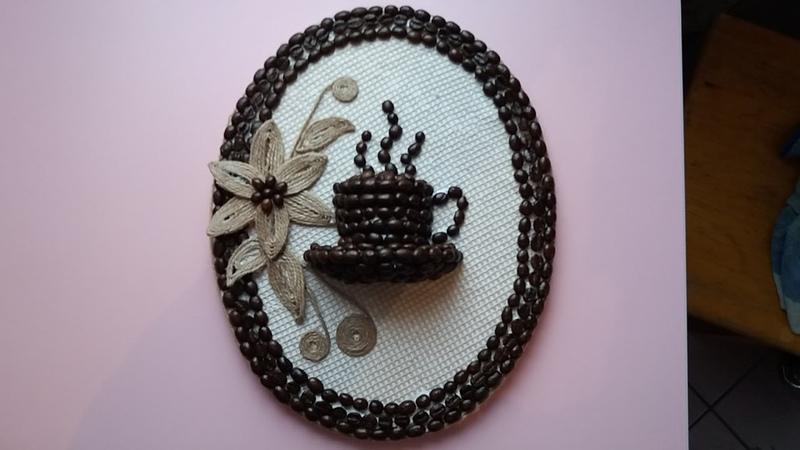 Tutorial tablou cu sfoara si cafea pentru bucatarieTutorial picture with string and coff