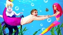 Барби спасает РУСАЛКУ! Играем в куклы - Мультики для девочек