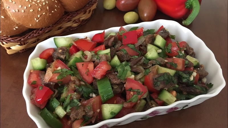 Mayonezsiz yengil salat Лёгкий салат без майонеза
