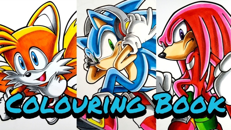 Artist Colours Children's Colouring Book Pages Sonic Tails and Knuckles