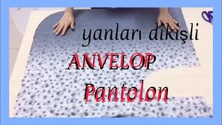 ANVELOP PANTOLON / PANTOLON ETEK    /DIY Wrap Pants/KALIPSIZ