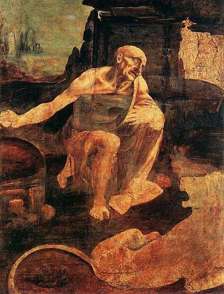 «Святой Иероним», Леонардо Да Винчи Около 1482. Дерево, масло. Размер: 103x74 см. Ватиканская Пинакотека Некоторые картины Леонардо художника, ученого, мыслителя эпохи Возрождения остались, к