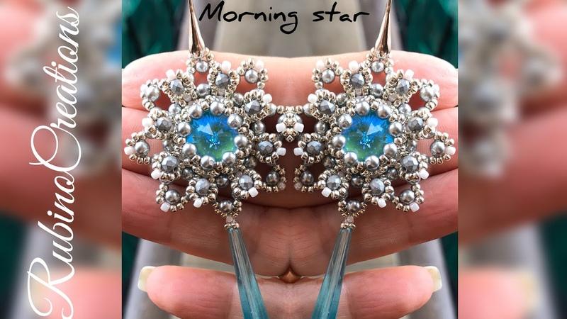 """Tutorial orecchini MORNING STAR"""" con perle e cipollotti"""